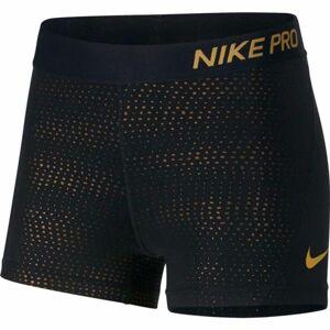 Nike NP SHORT 3IN MTLC DOTS černá L - Dámské sportovní šortky