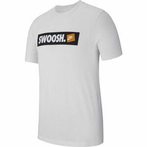 Nike TEE SWOOSH BMPR STKR bílá L - Pánské triko