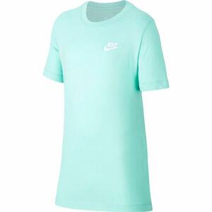 Nike NSW TEE EMB FUTURA B zelená XL - Chlapecké tričko