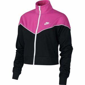 Nike W NSW HRTG TRACK JKT PK černá S - Dámská bunda