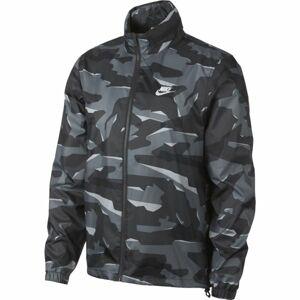 Nike CE JKT JD WNDBRKR CAMO černá S - Pánská bunda