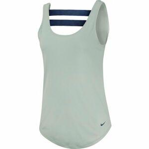 Nike DRY TNK SSNL ESSNTL ELSTK zelená L - Dámské tílko
