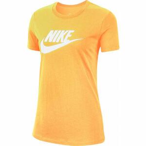 Nike NSW TEE ESSNTL ICON FUTUR W oranžová XS - Dámské tričko