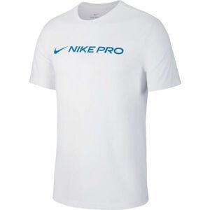 Nike DRY TEE NIKE PRO M bílá 2XL - Pánské tréninkové tričko