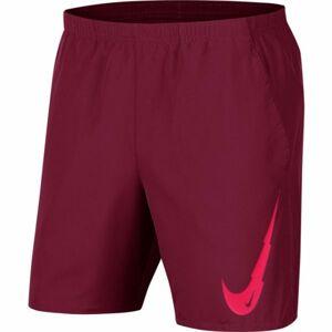 Nike RUN SHORT 7IN WR BF PO GX M vínová M - Pánské běžecké kraťasy