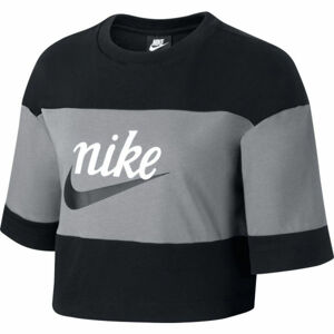 Nike NSW VRSTY TOP SS W šedá M - Dámské tričko