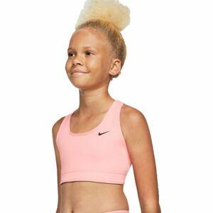 Nike NP BRA CLASSIC REV AOP G růžová S - Dívčí sportovní oboustranná podprsenka
