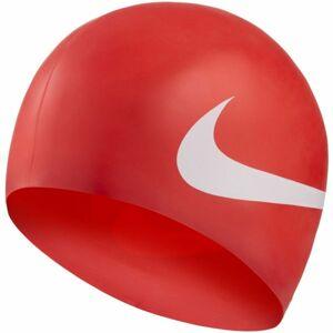 Nike BIG SWOOSH červená NS - Plavecká čepice
