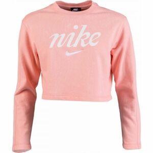 Nike NSW CREW CROP WSH růžová XL - Dámská mikina