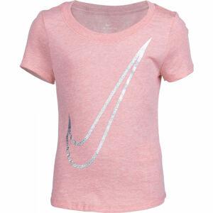 Nike NSW TEE SCOOP SHENE SWOOSH G růžová M - Dívčí tričko