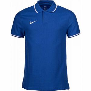 Nike POLO TM CLUB19 SS M modrá L - Pánské polotričko