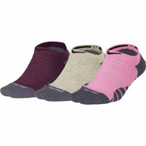 Nike EVERYDAY MAX CUSH NS 3PR růžová 38-42 - Dámské ponožky