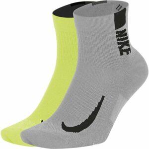 Nike MULTIPLIER šedá 38-42 - Unisexové ponožky