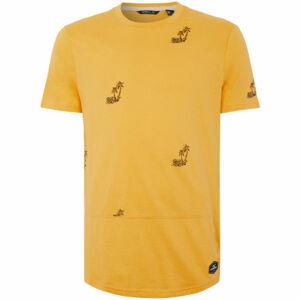 O'Neill LM PALM AOP T-SHIRT žlutá XL - ;Pánské tričko