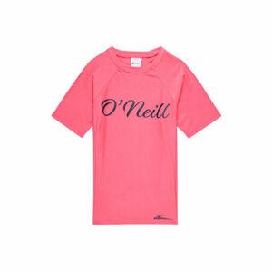 O'Neill PG LOGO S/SLV SKINS růžová 16 - Dívčí tričko