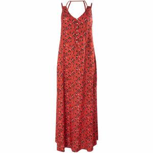 O'Neill LW BELINDA AOP LONG DRESS červená S - Dámské šaty