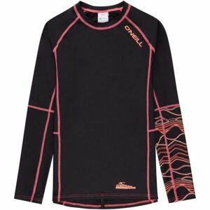 O'Neill PG LONG SLEEVE SKINS černá 12 - Dívčí triko s UV filtrem