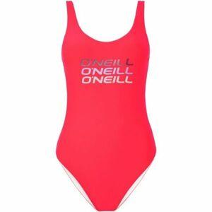 O'Neill PW LOGO TRIPPLE SWIMSUIT růžová 36 - Dámské jednodílné plavky