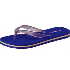 O'Neill FG GLITTER SOL FLIP FLOPS tmavě modrá 33 - Dívčí žabky