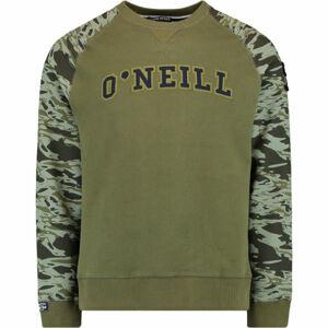 O'Neill LM RUNYON CREW tmavě zelená XL - Pánská mikina