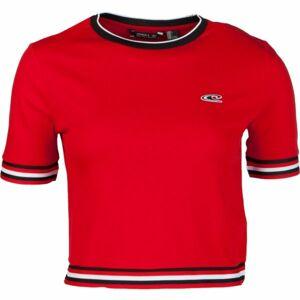 O'Neill LW SPORT STRIPE RIB TEE červená XS - Dámské tričko