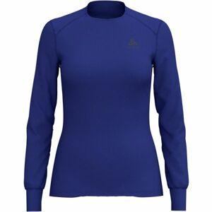 Odlo BL TOP CREW NECK L/S ACTIVE WARM modrá M - Dámské tričko