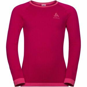 Odlo SUW KIDS TOP L/S CREW NECK PERFORMANCE WARM červená 140 - Dětské tričko