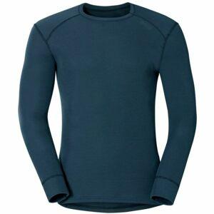 Odlo SUW MEN'S TOP L/S CREW NECK ACTIVE WARM šedá XXL - Pánské funkční tričko