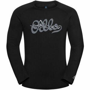 Odlo MEN'S T-SHIRT L/S CREW NECK CONCORD černá XL - Pánské tričko