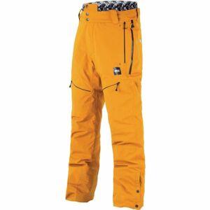 Picture NAIKOON žlutá XXL - Pánské zimní kalhoty