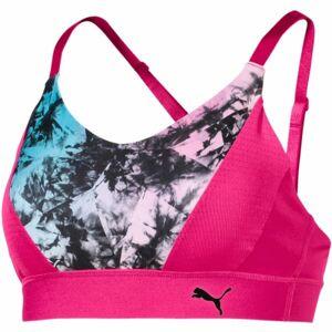Puma GRAPHIC LOGO BRA M růžová S - Dámská sportovní podprsenka