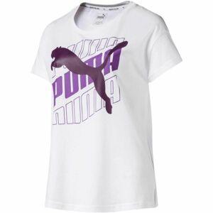 Puma 58007501 MODERN SPORT GRAPHIC TEE bílá M - Dámské sportovní triko