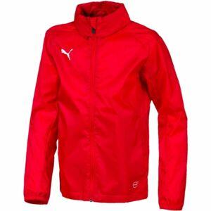 Puma LIGA TRG RAIN JKT CORE JR červená 140 - Dětská bunda