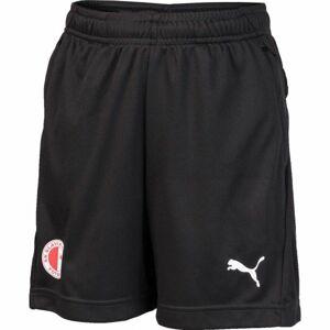 Puma LIGA TRG SHORTS JR SLAVIA černá 128 - Chlapecké sportovní šortky