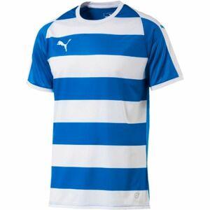 Puma LIGA JERSEY HOOPED JR modrá 140 - Dětské sportovní triko