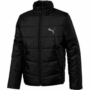 Puma ESS PADDED JACKET JR černá 164 - Juniorská zimní bunda