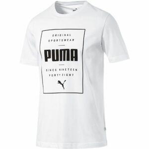 Puma BOX PUMA TEE bílá XXL - Pánské tričko