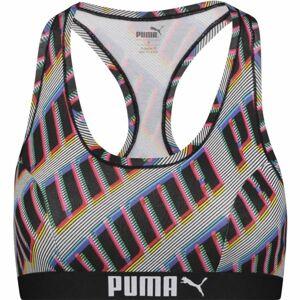 Puma TOP RACEBRACK 1P černá XS - Dámská podprsenka