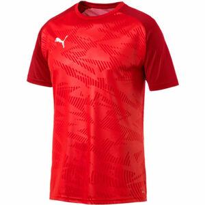 Puma CUP TRAINING JERSEY COR červená L - Pánské sportovní triko