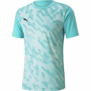Puma INDIVIDUAL RISE GRAPHIC TEE  S - Pánské fotbalové triko