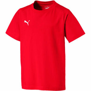 Puma LIGA CASUALS TEE JR červená 116 - Chlapecké triko