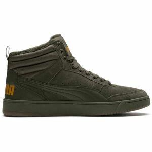 Puma REBOUND STREET V2 SD FUR tmavě zelená 7 - Pánské zimní boty