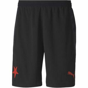 Puma SK SLAVIA HOME SHORTS PROMO  2XL - Pánské fotbalové šortky