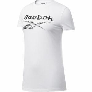 Reebok TE GRAPHIC TEE DELTA bílá XL - Dámské triko