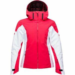 Rossignol W COURSE SHINY červená XS - Dámská lyžařská bunda