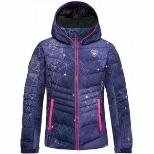 Rossignol GIRL POLYDOWN PR JKT fialová 8 - Dívčí lyžařská bunda