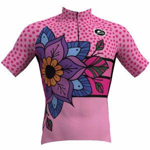 Rosti MANDALA W růžová M - Dámský cyklistický dres