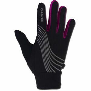 Runto WARRIOR růžová XS/S - Běžecké rukavice