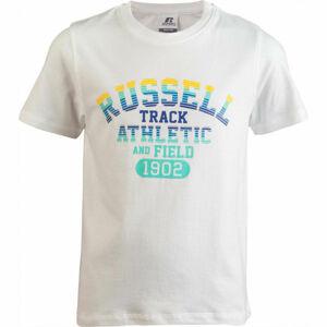 Russell Athletic TRACK SS/S CREWNECK TEE SHIRT bílá 140 - Dětské tričko