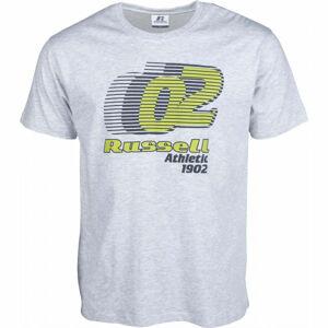 Russell Athletic SPEED GRAPHIC S/S CREWNECK TEE SHIRT šedá M - Pánské tričko